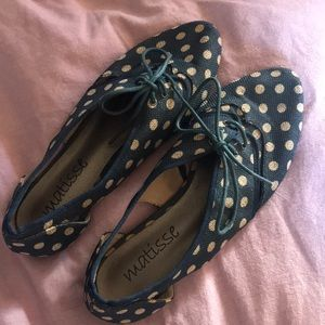 Anthropologie Matisse Polka Dot Cut Out Oxfords
